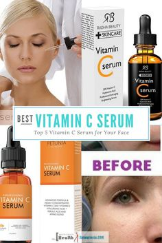 Anti aging skin care tips and DIY homemade recipes to look 10 years younger and get rid of wrinkles. Get radiant and wrinkle free skin with effective skin care products and hacks. Anti Aging Facial, Facial Serum, Anti Aging Serum, Anti Aging Skin Care, Eye Serum, Best Vitamin C, Vitamin C For Face, Vitamin C Cream, Brown Spots On Face