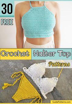 30 Free Crochet Halter Top Patterns | Guide Patterns