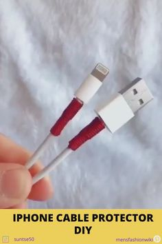 Extend your iPhone cable's life - DIY step by step Amazing Life Hacks, Simple Life Hacks, Useful Life Hacks, Diy Crafts Hacks, Diy Home Crafts, Survival Knots, Everyday Hacks, Diy Bracelets Easy, Tips & Tricks