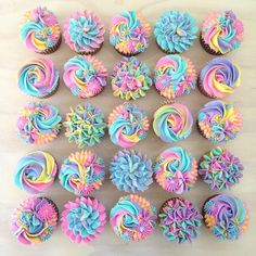 Colorful Cupcakes Are Lisa Frank Approved