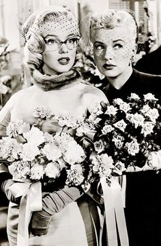 Betty Grable and Marilyn Monroe in 'How to Marry a Millionaire', 1953.
