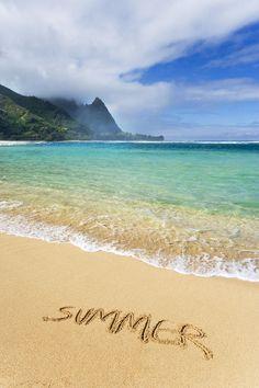 Summer on Haena Beach, Kauai, Hawaii