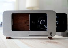 The c/dock / designed to solve two problems: 1) using your iPhone as an alarm clock and 2) the need to charge your iPhone overnight. If you like this design, you can back it on Kickstarter. http://www.kickstarter.com/projects/721230440/c-dock
