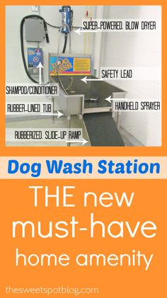 Dog Wash Station: The New 'Must-Have' http://thesweetspotblog.com/dog-wash-station-new-must/