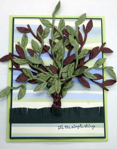 """""""It's the Simple Things"""" Card Creative Impressions Vine Ribbon"""