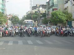 Downtown #Saigon traffic! Vietnam