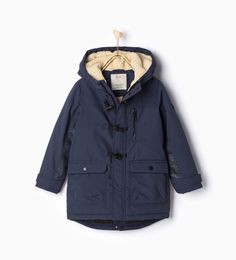 Image 1 of Parka with toggles from Zara