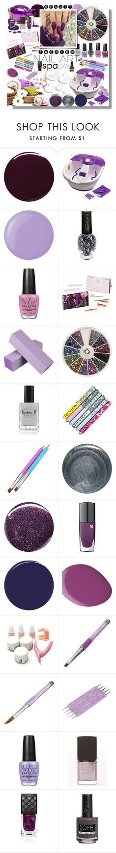 """""""Perfect shades of purple"""" by carleen1978 on Polyvore featuring beauty, Burberry, Dr. Scholl's, TOUS, Essie, OPI, Ted Baker, Lauren B. Beauty, Revlon and RGB Cosmetics"""