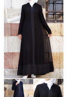 Hijab Gown, Hijab Style Dress, Abaya Fashion, Modest Fashion, Fashion Dresses, Muslim Women Fashion, Abaya Designs, Abayas, Dress Sewing Patterns