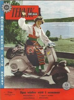 TFA Scootering in Dalarna in the fifties