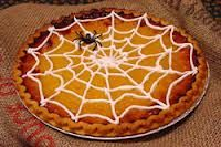breakfast-  make a round danish or crumb cake and top with spider web as seen here