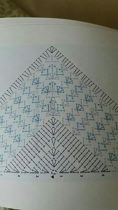 Best 12 Ravelry: Project Gallery for Virus Meets Granny Shawl pattern by Jinty Lyons – SkillOfKing. Crochet Shawl Diagram, Crochet Motifs, Crochet Chart, Crochet Lace, Crochet Stitches, Crochet Shawls And Wraps, Crochet Scarves, Crochet Clothes, Knitting Patterns