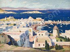 Gaston Balande - Mykonos, 1939 (HST 54x73)