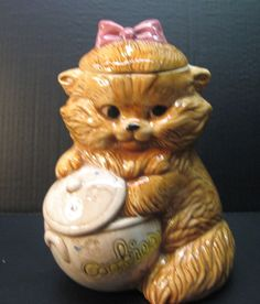 Treasure Craft Cookie Jar Kitten with Hand in the Cookie Jar Vintage