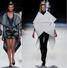 El  diseñador  Japonés Issey Miyake, nos muestra una vez más una colección impecable, A partir de módulos de origami estructura una colección completa.