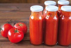 Food trends 2017 - homemade condiments and unusual sauces such as black garlic puree! Interesting read overall Homemade Ketchup, Homemade Tomato Sauce, Homemade Salsa, Chutneys, Purple Food, Egg Recipes For Breakfast, Food Trends, Hot Sauce Bottles, Mayonnaise