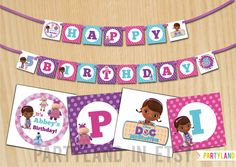 Doc+McStuffins+customized+party+birthday+banner++by+PartylandShop,+$9.95