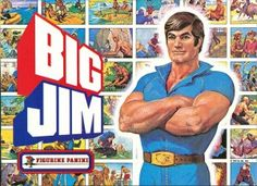 Cover of the 1977 Big Jim sticker album published by Panini