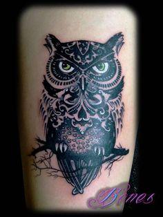 imagenes de tatuajes tattoo pavo real lechuza buhos - Buscar con Google