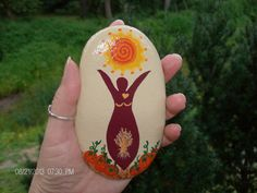Autumn Harvest Goddess Stone by MarciaStewartArt on Etsy, $12.00
