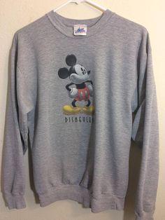 Disney Mickey Mouse Classic 90th Anniversary Dark Grey Ladies Crew Sweat