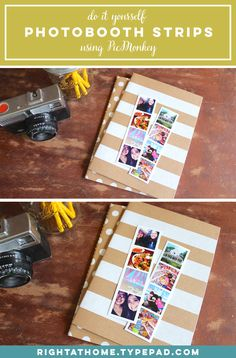 DIY Photo Booth Strips using @picmonkeyapp | Right at Home