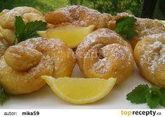 Citrónové uzlíky recept - TopRecepty.cz Pretzel Bites, Doughnut, French Toast, Lemon, Bread, Breakfast, Desserts, Food, Morning Coffee