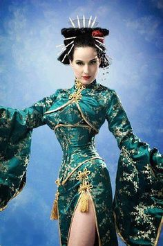Anything that Dita Von Teese wears is inspiring. I see this as a japanese sedutress, spying for an evil overlord! Costumes Burlesques, Burlesque Costumes, Costume Hire, Folk Costume, Katharine Hepburn, Pin Up, Burlesque Vintage, Dita Von Teese Style, Dita Von Tease