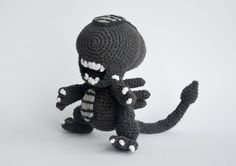 **Please note, this listing is for the PATTERN only, not the finished toy!** Crochet alien, when finished, is 21 cm tall (8.2 inches). Alien franchise was one of the movies that made a huge impact on me when I was younger. I love the whole series, always had and always will, and as a huge fan