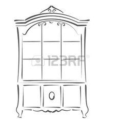 Armoire dessin close up tiroirs en bois clair - Dessin d armoire ...