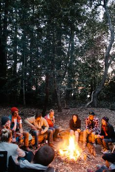 Sitting around the campfire with great friends.