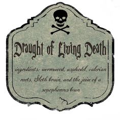 Draught of Living Death label - Cerca con Google