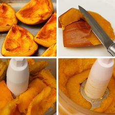 How To Make Pumpkin Puree - it's hard to come by in the grocery store so this could be handy
