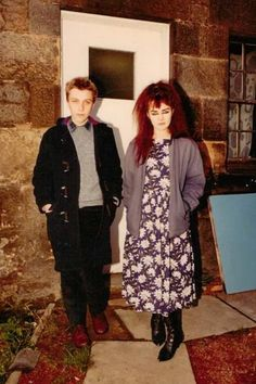 Stephen McRobbie of The Pastels and Jill Bryson of Strawberry Switchblade. 1982 Picture Peter McArthur ..... Follow - > www.songssmiths.wordpress.com Like -> www.facebook.com/songssmithssongssmiths