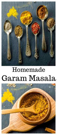 From sweet to pungent, our Homemade Garam Masala spice blend stays true to its Ayurvedic roots – it awakens the palate and delivers a balance of flavors to your food that will create optimal health. Masala Mix via May I Have That Recipe Garam Masala, Masala Spice, Chana Masala, Kosher Recipes, Vegan Recipes, Cooking Recipes, Homemade Spices, Homemade Seasonings, Spice Blends