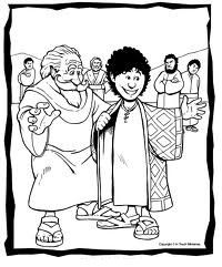 Actividades para colorear de José y su túnica. José era un niño que amaba y obedecía a Dios, y por eso Dios lo bendijo. José cuidab...