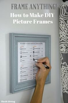 How to Make Your Own DIY Picture Frames Without Power Tools - Frame anything, including this customizable cleaning checklist for kids from COIT. Download yours today! #coitchecklist #customizable #ad