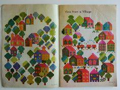 Cross stitch patterns by Misako Murayama (via alice apple)