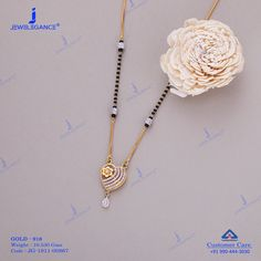 Gemstone Mangalsutra jewellery for Women by jewelegance. ✔ Certified Hallmark Premium Gold Jewellery At Best Price Gold Mangalsutra Designs, Gold Earrings Designs, Gold Jewellery Design, Indian Wedding Jewelry, Bridal Jewelry, Beaded Jewelry, Real Gold Jewelry, Gold Jewelry Simple, Buy Jewellery Online