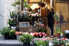 What I would give to be browsing in a little flower shop in Paris right now..