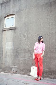 Loving coloured pants at the moment...