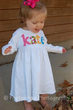 Toddler Dress Personalized with Name You by roundthebendagain, $28.50