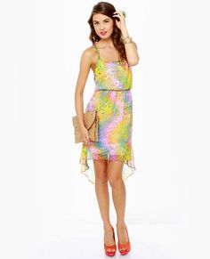 psychedelic delights print dress   lulus.com