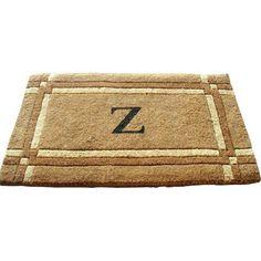 "Geo Crafts Imperial Border Doormat Rug Size: 30"" x 48"", Letter: D"