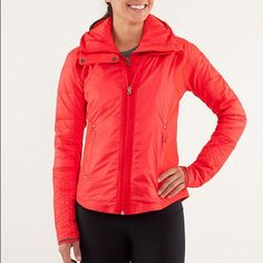 Lululemon Bundle Up Down Jacket Quilted Coral 6 S