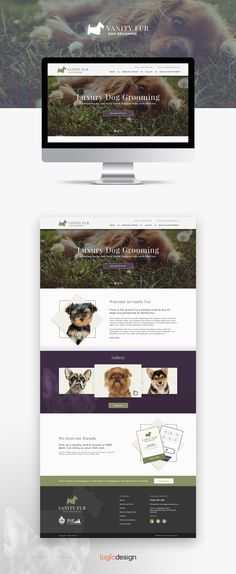 Another happy client and a  successful website and branding project for Vanity Fur Dog Grooming #doggrooming #dogs #webdesign #Design
