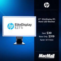 "Save $30 on a 27"" HP EliteDisplay IPS panel LED monitor at MacMall."