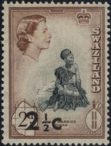 Stamp: Surcharged (Swaziland) (Regular issue stamps) Mi:SZ 70,Sn:SZ 70