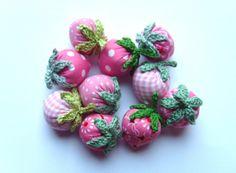 Erdbeeren rosa von Hand und Herz auf DaWanda.com