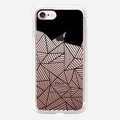 Abstract Mountain Black Transparent - Classic Grip #Casetifyiphone7 #iphone7 #abstract